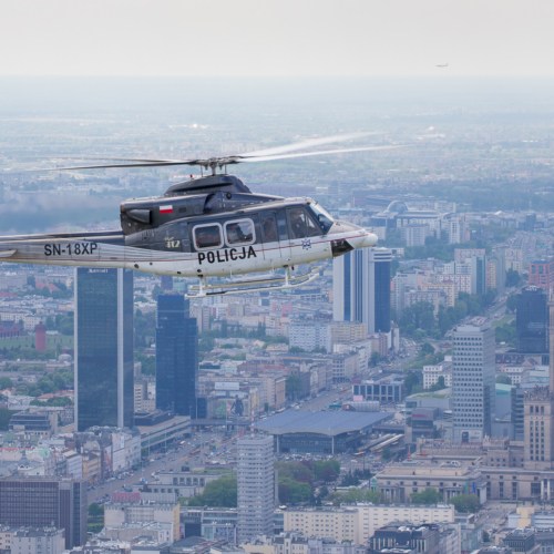 Polish Police – Air to Air with Bell-412HP