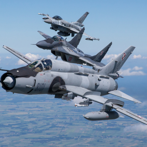 F-16, MiG-29, Su-22 – photo session
